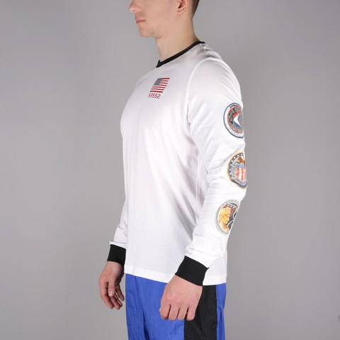 мужской белый  лонгслив nike pg 3 x nasaspace themed tee BQ7534-100 - цена, описание, фото 2