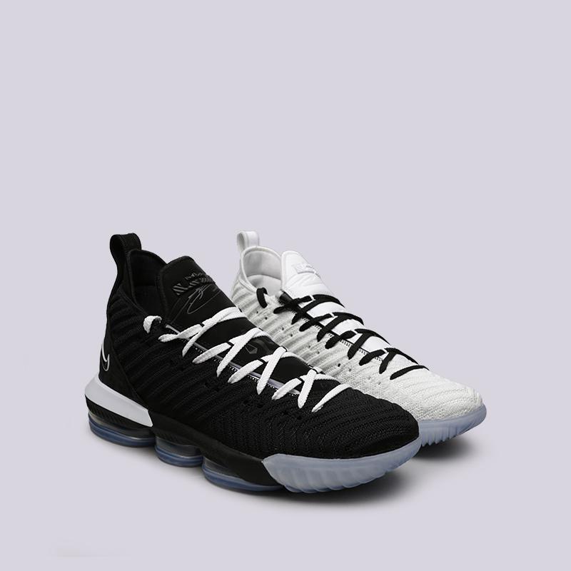 752d3ffd мужские чёрные, белые кроссовки nike lebron 16 BQ5969-100 - цена, описание,