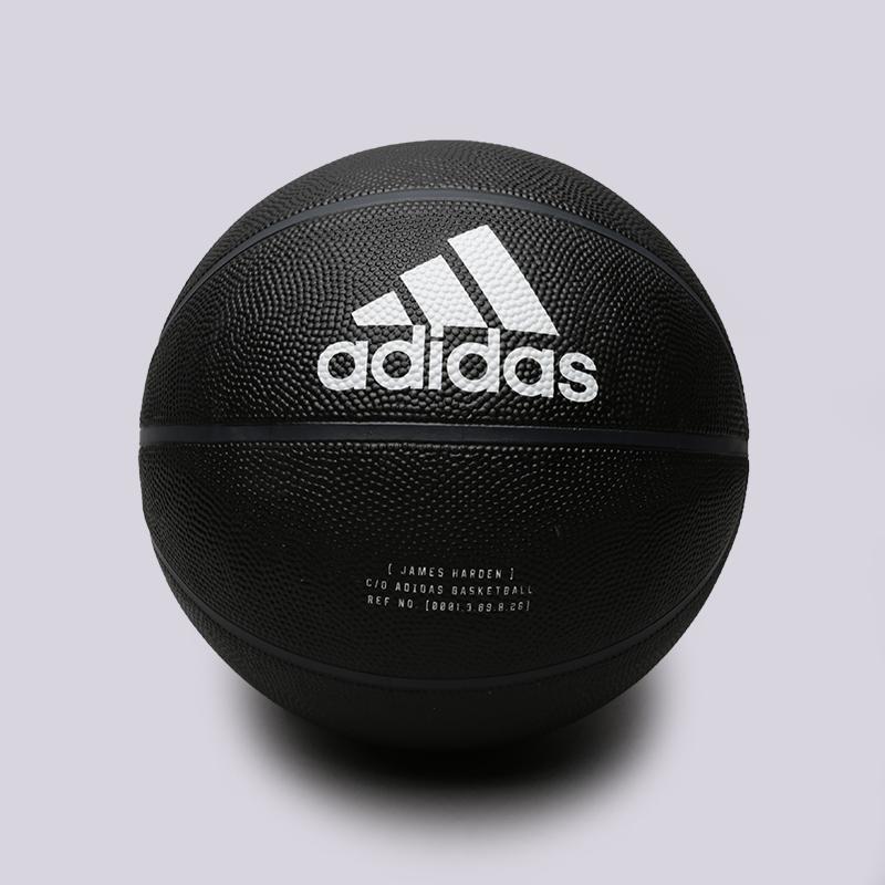 чёрный  мяч №7 adidas harden sig ball CW6787 - цена, описание, фото 1