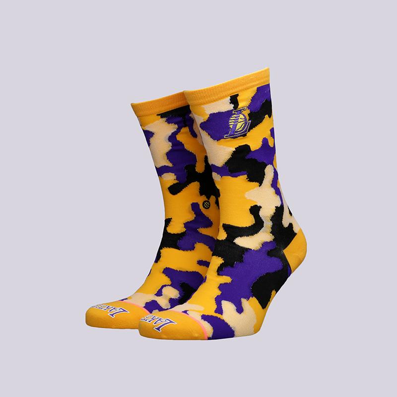 женские жёлтые  носки stance lakers crew W515C18LAK-yellow - цена, описание, фото 1
