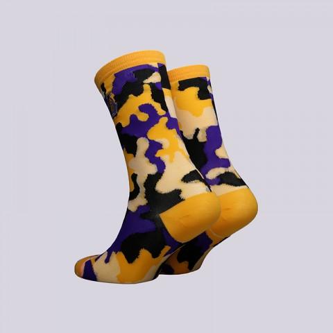 женские жёлтые  носки stance lakers crew W515C18LAK-yellow - цена, описание, фото 2