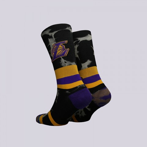 мужские чёрные  носки stance lakers acid wash M558C18LAK-yellow - цена, описание, фото 2