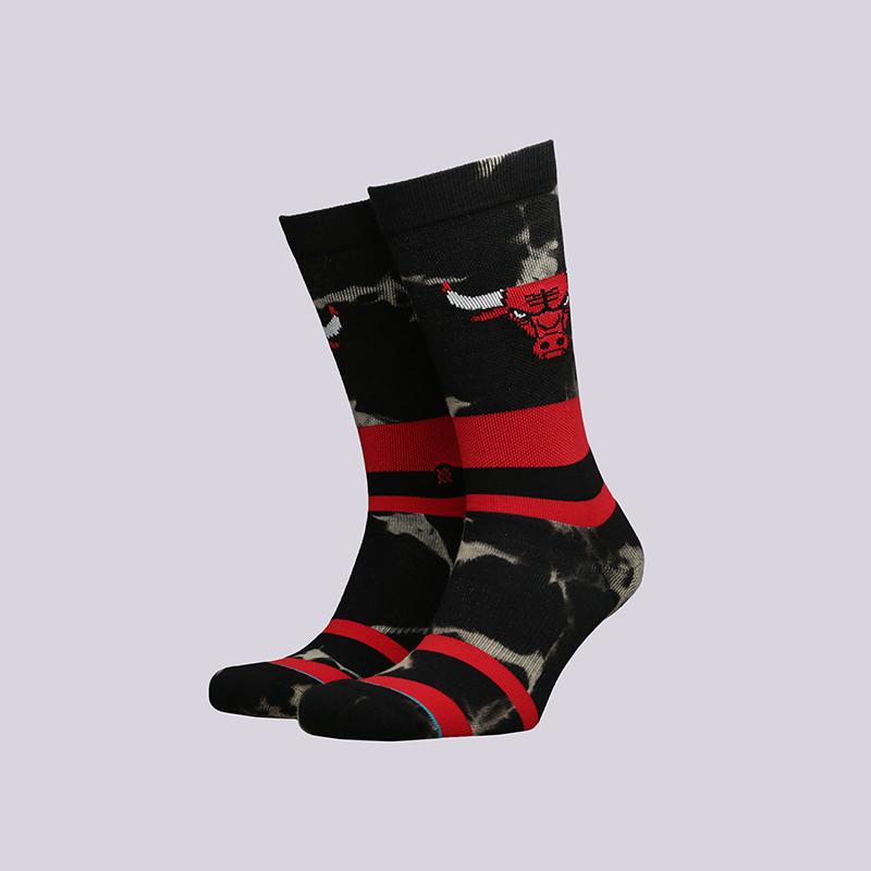 мужские чёрные  носки stance bulls acid wash M558C18BUL-red - цена, описание, фото 1