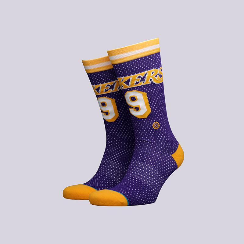 мужские фиолетовые  носки stance lakers 94 hwc M545C18VEH-purple - цена, описание, фото 1