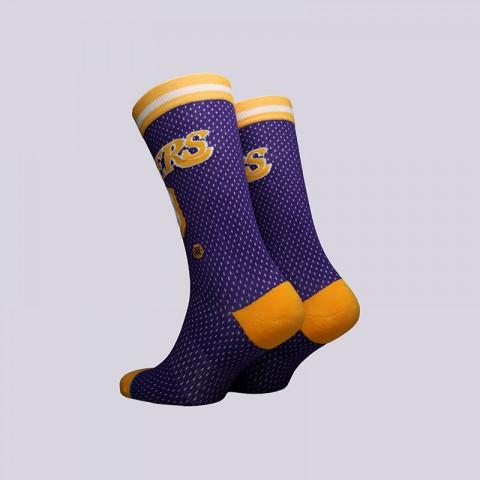мужские фиолетовые  носки stance lakers 94 hwc M545C18VEH-purple - цена, описание, фото 2