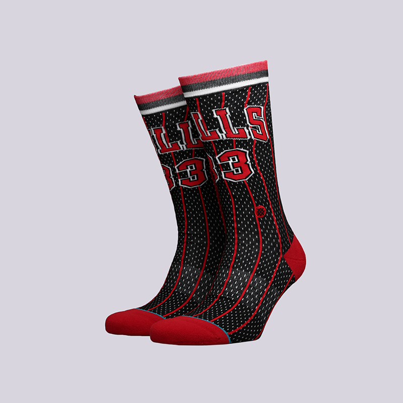 мужские чёрные  носки stance bulls 96 hwc M545C18PIH-Black - цена, описание, фото 1
