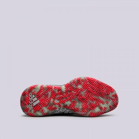 мужские белые, чёрные  кроссовки adidas dame 5 F36561 - цена, описание, фото 2
