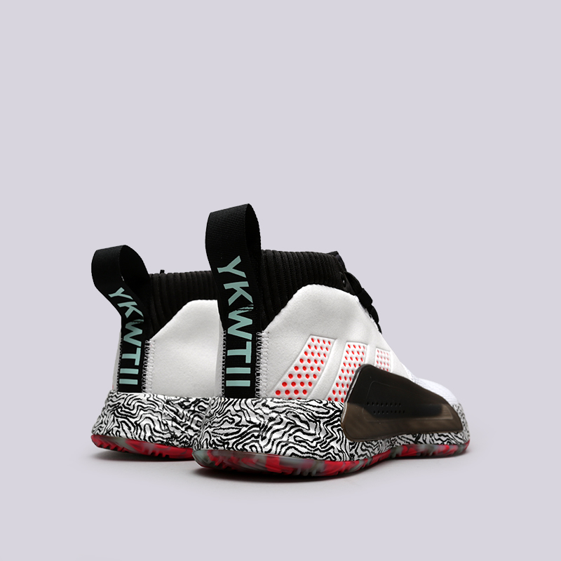 мужские белые, чёрные  кроссовки adidas dame 5 F36561 - цена, описание, фото 4