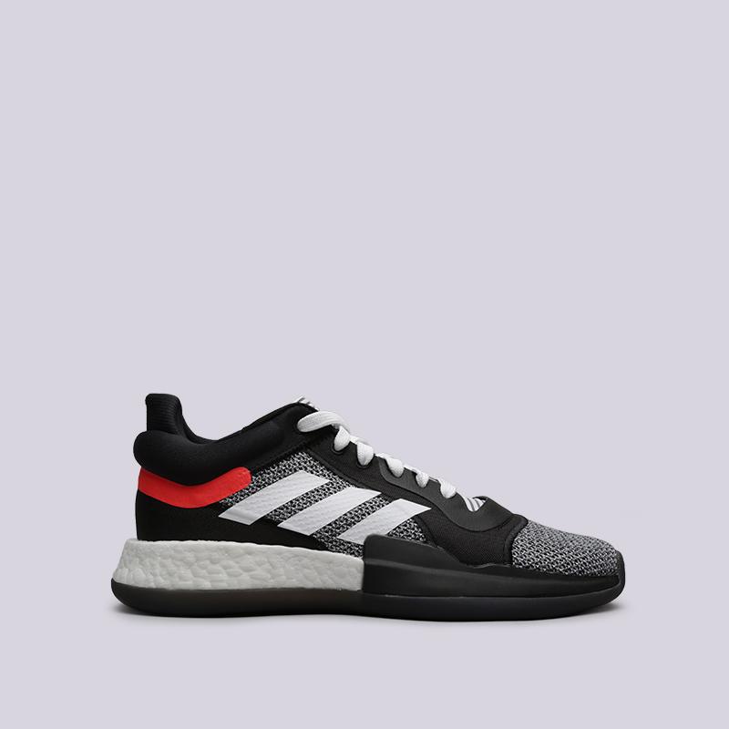 мужские чёрные  кроссовки adidas marquee boost low D96931 - цена, описание, фото 1