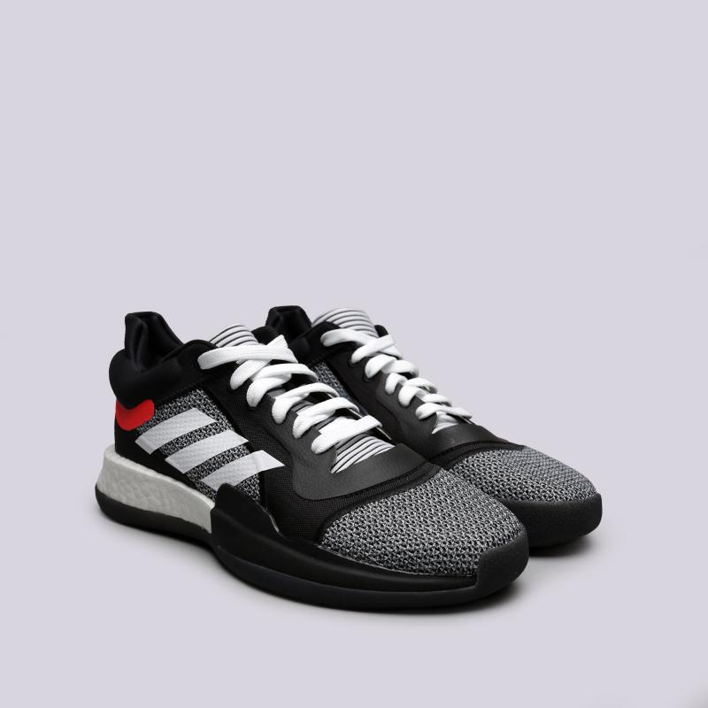 мужские чёрные  кроссовки adidas marquee boost low D96931 - цена, описание, фото 3