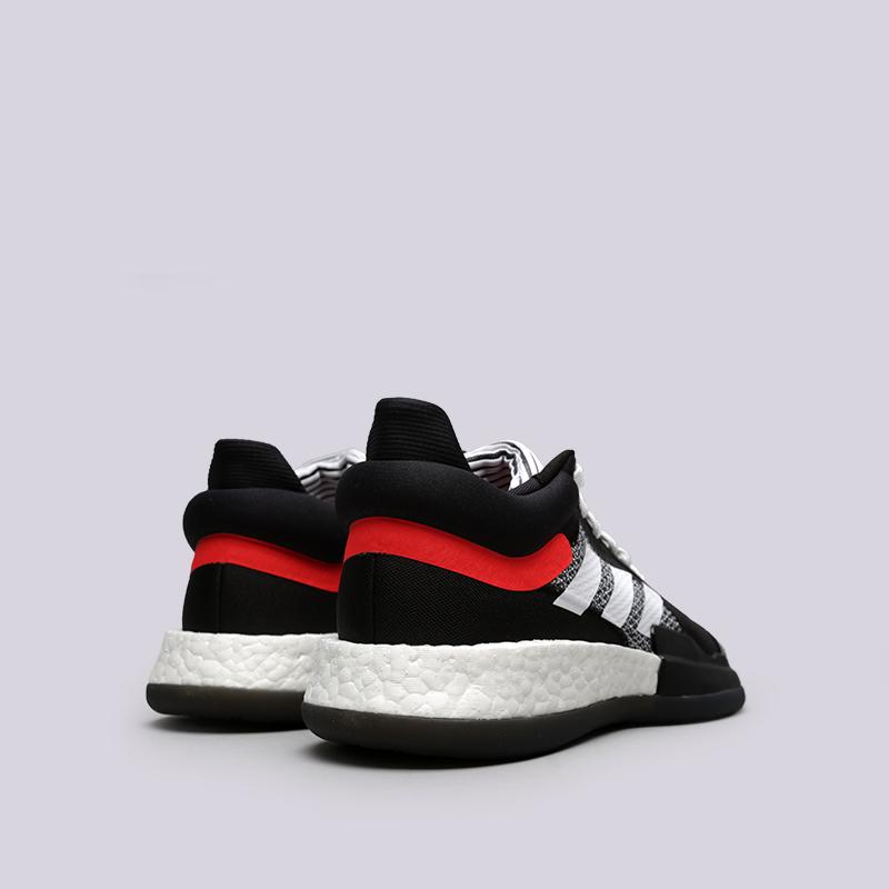 мужские чёрные  кроссовки adidas marquee boost low D96931 - цена, описание, фото 4