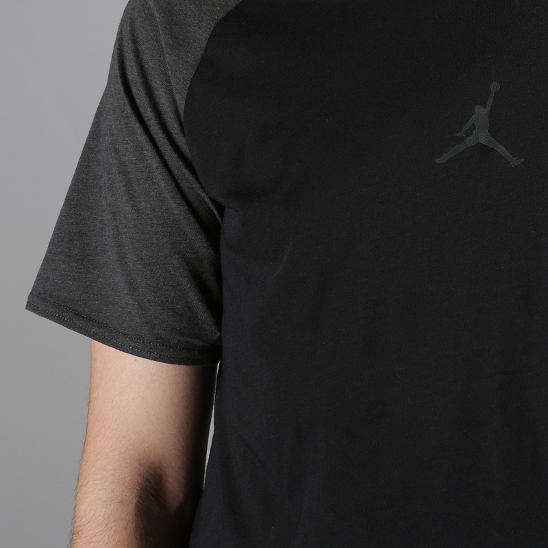 мужскую черную  футболка jordan dri-fit 23 alpha print short-sleeve basketball top AO8861-010 - цена, описание, фото 2