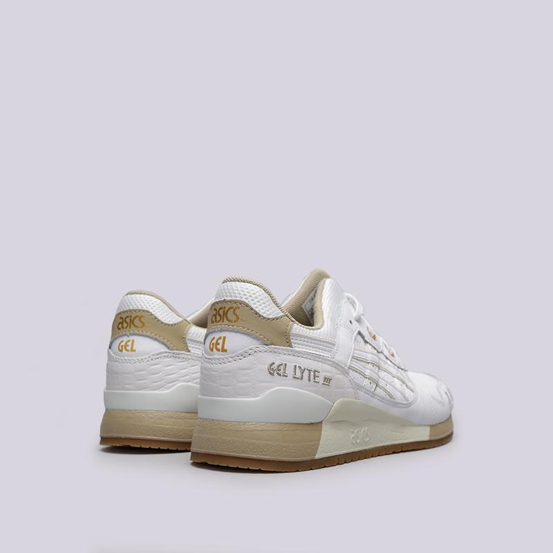 мужские белые кроссовки asics tiger gel-lyte iii 1191A201-100 - цена e5da11603a0a0