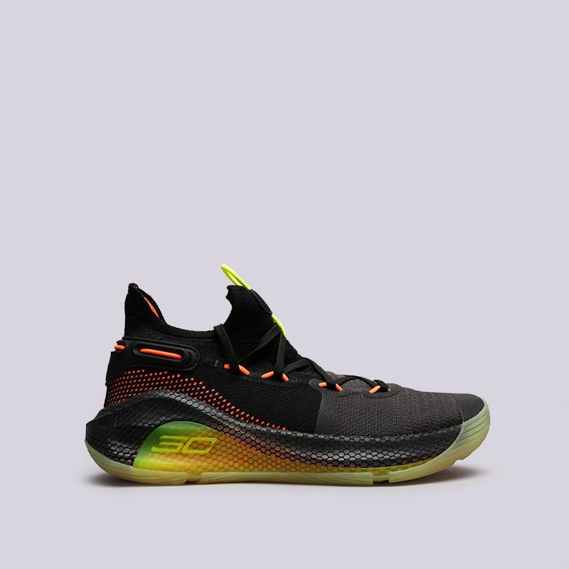 мужские чёрные  кроссовки under armour ua curry 6 3020612-004 - цена, описание, фото 1