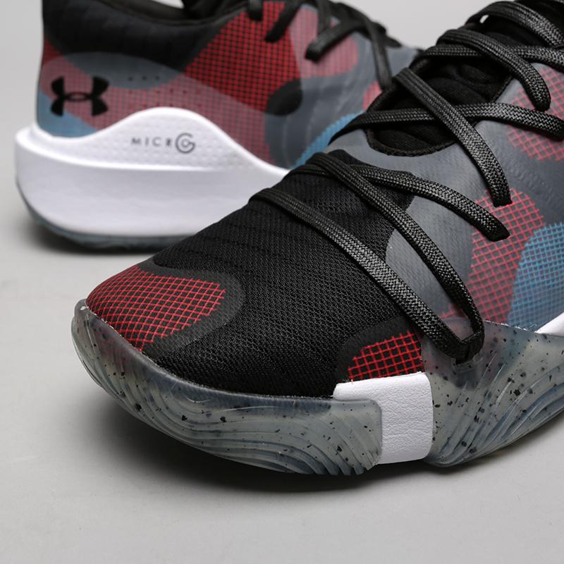 мужские чёрные  кроссовки under armour ua spawn low 3021263-002 - цена, описание, фото 5