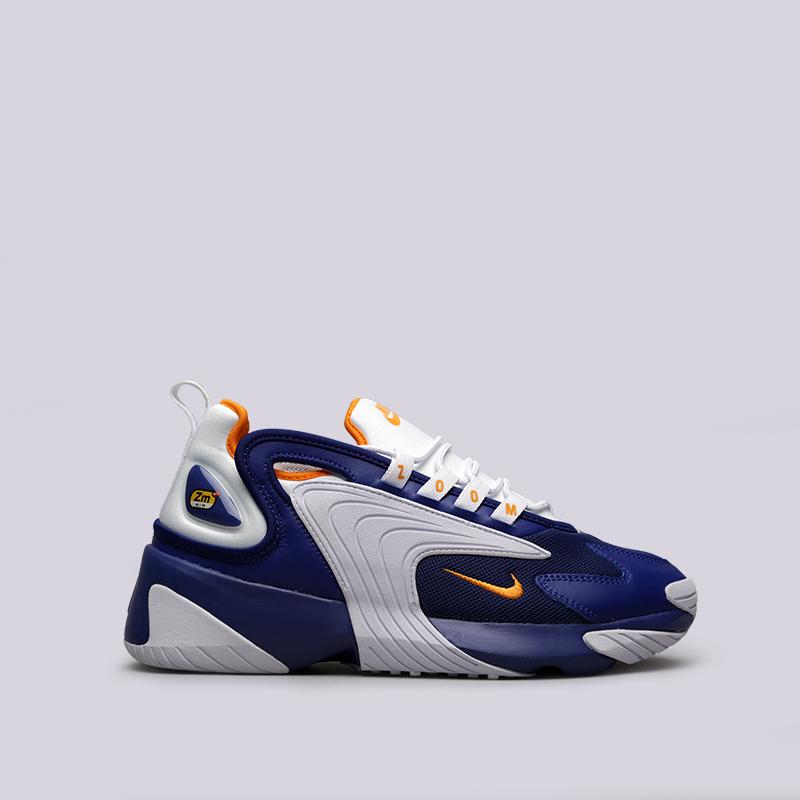 57101a58d мужские синие, белые кроссовки nike zoom 2k AO0269-400 - цена, описание,