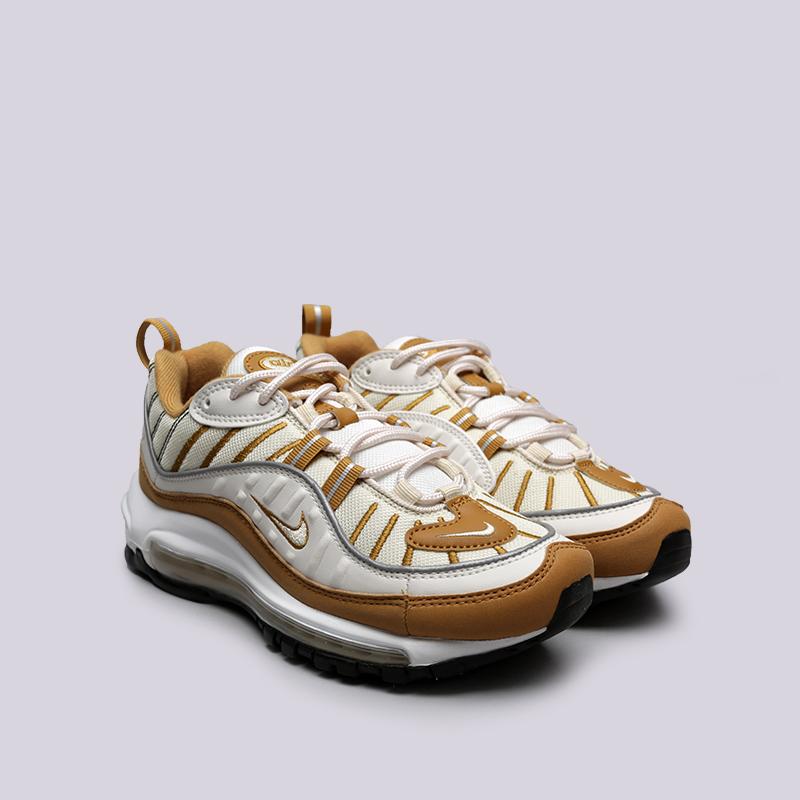 бежевые, коричневые  кроссовки nike wmns air max 98 AH6799-003 - цена, описание, фото 3