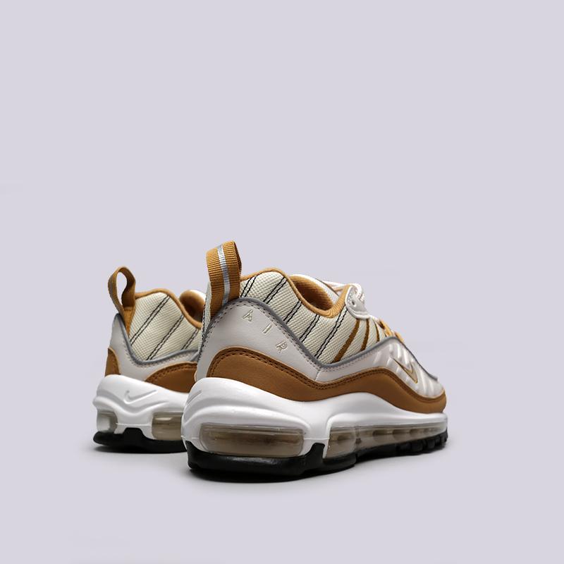 бежевые, коричневые  кроссовки nike wmns air max 98 AH6799-003 - цена, описание, фото 4