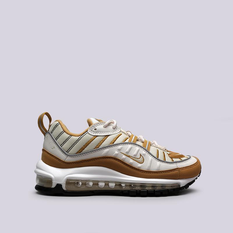 бежевые, коричневые  кроссовки nike wmns air max 98 AH6799-003 - цена, описание, фото 1