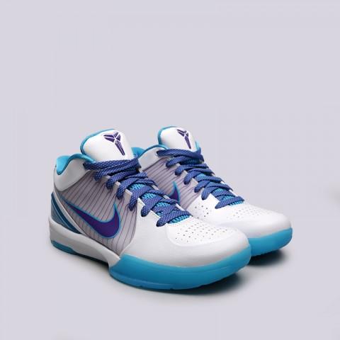 мужские белые, синие  кроссовки nike kobe iv protro AV6339-100 - цена, описание, фото 3