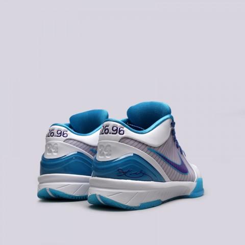мужские белые, синие  кроссовки nike kobe iv protro AV6339-100 - цена, описание, фото 4