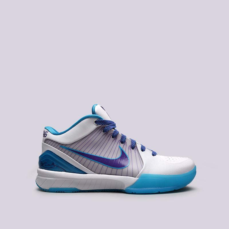 мужские белые, синие  кроссовки nike kobe iv protro AV6339-100 - цена, описание, фото 1