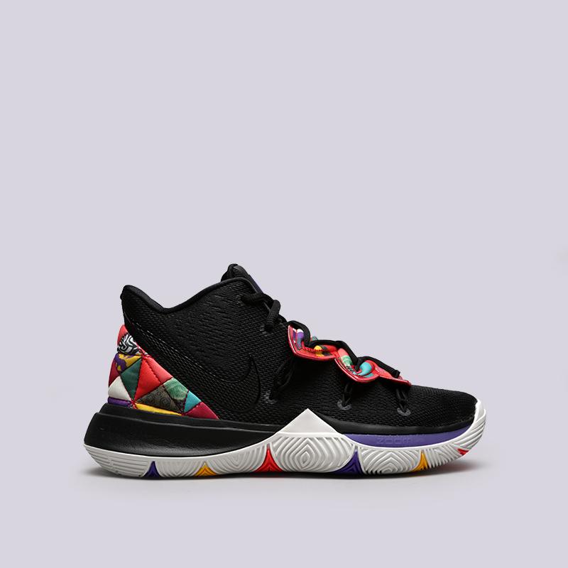 мужские чёрные  кроссовки nike kyrie 5 AO2918-010 - цена, описание, фото 1