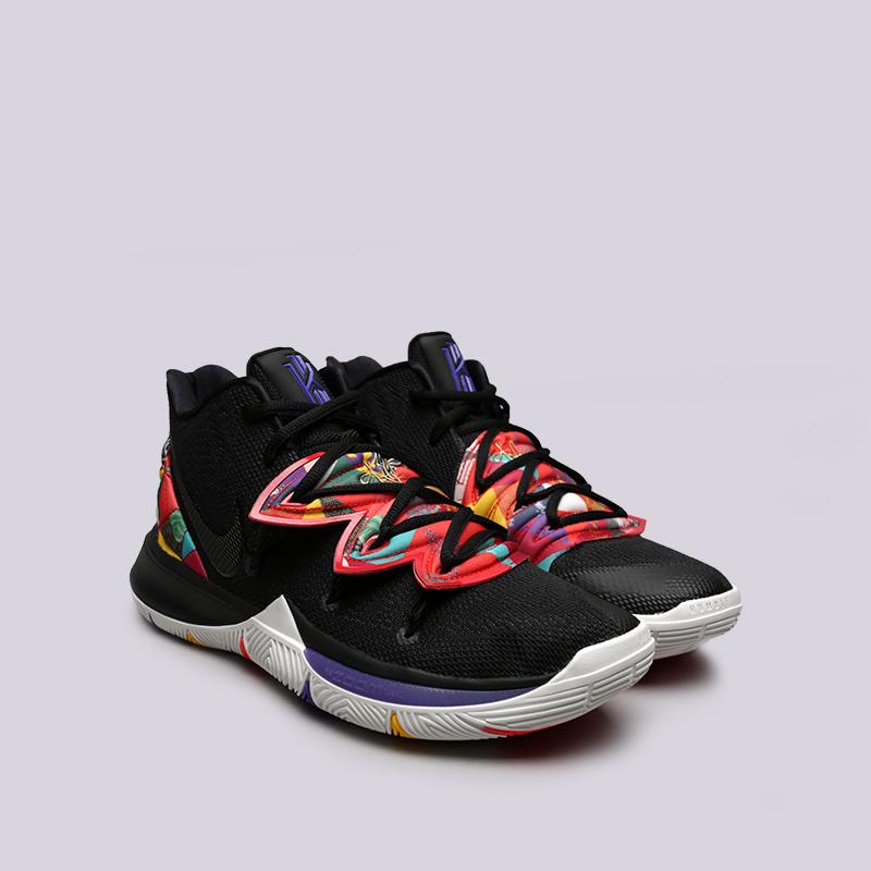 мужские чёрные  кроссовки nike kyrie 5 AO2918-010 - цена, описание, фото 3