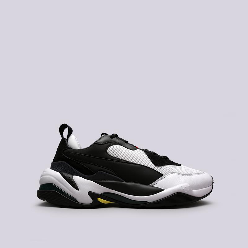 мужские чёрные, белые  кроссовки puma thunder spectra 36751607 - цена, описание, фото 1
