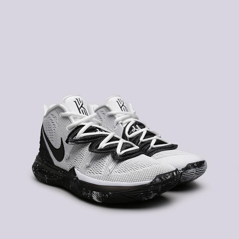 мужские белые, чёрные  кроссовки nike kyrie 5 AO2918-100 - цена, описание, фото 3