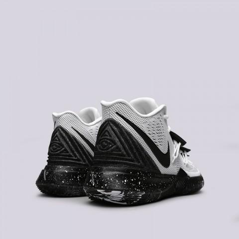 мужские белые, чёрные  кроссовки nike kyrie 5 AO2918-100 - цена, описание, фото 4