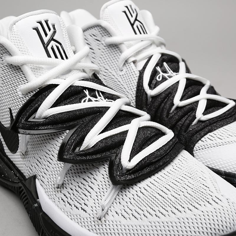 мужские белые, чёрные  кроссовки nike kyrie 5 AO2918-100 - цена, описание, фото 5