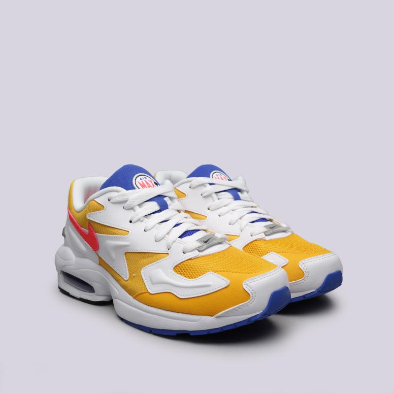 354839e3 мужские белые, жёлтые кроссовки nike air max 2 light AO1741-700 - цена,