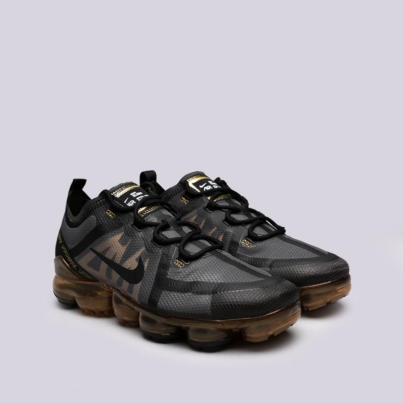 мужские чёрные, золотые  кроссовки nike air vapormax 2019 AR6631-002 - цена, описание, фото 3