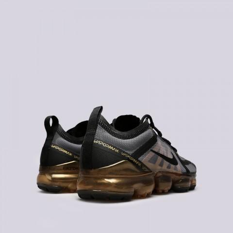 мужские чёрные, золотые  кроссовки nike air vapormax 2019 AR6631-002 - цена, описание, фото 4