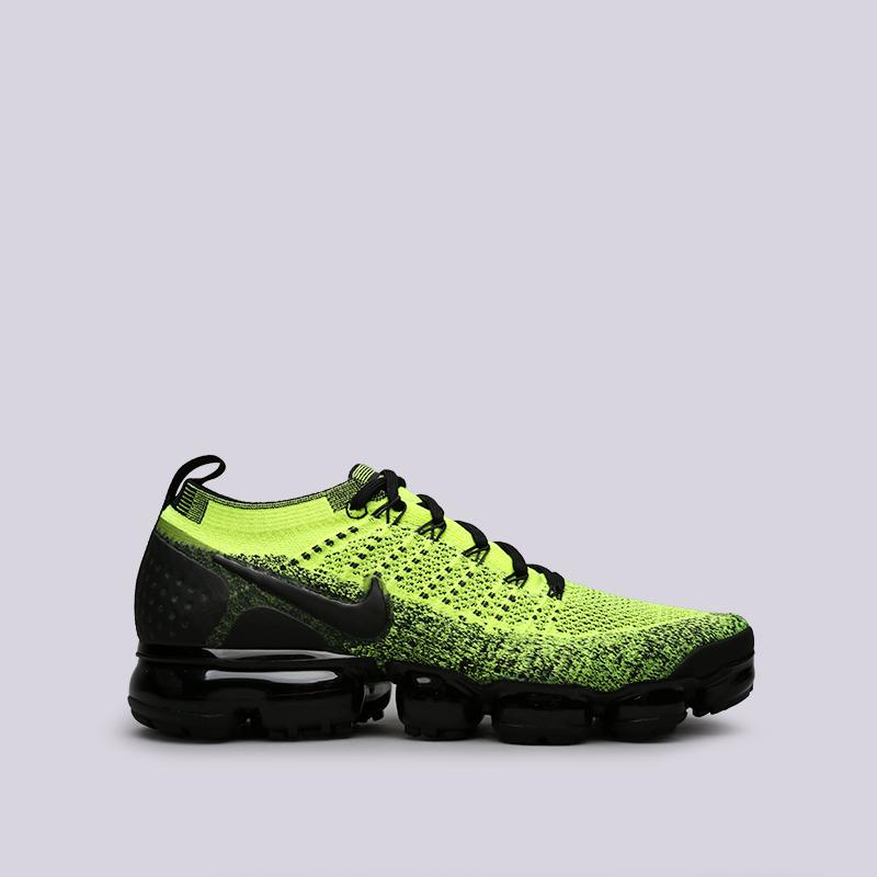 Кроссовки Nike, Чёрный;салатовый