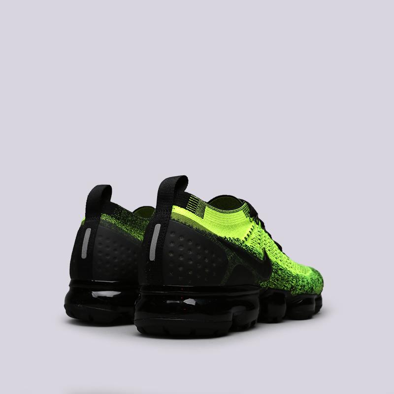 buy popular ee137 7caa3 мужские чёрные, салатовые кроссовки nike air vapormax flyknit 2 942842-701  - цена,