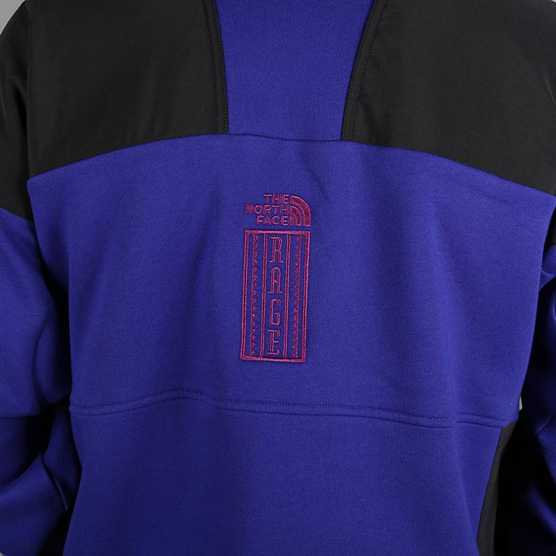 мужскую синюю, чёрную  толстовка the north face 92 rage fleece hoodie T93MIE9QX - цена, описание, фото 5