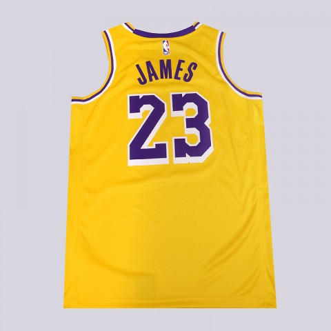 мужскую желтую  майку nike lebron james icon edition swingman AA7099-741 - цена, описание, фото 3