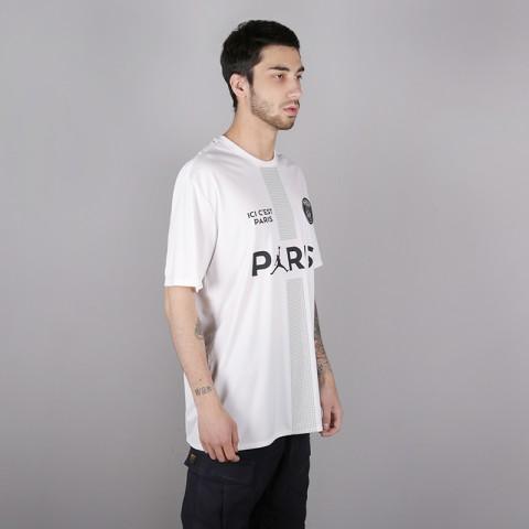мужскую белую  футболка jordan psg tee AQ7292-100 - цена, описание, фото 3