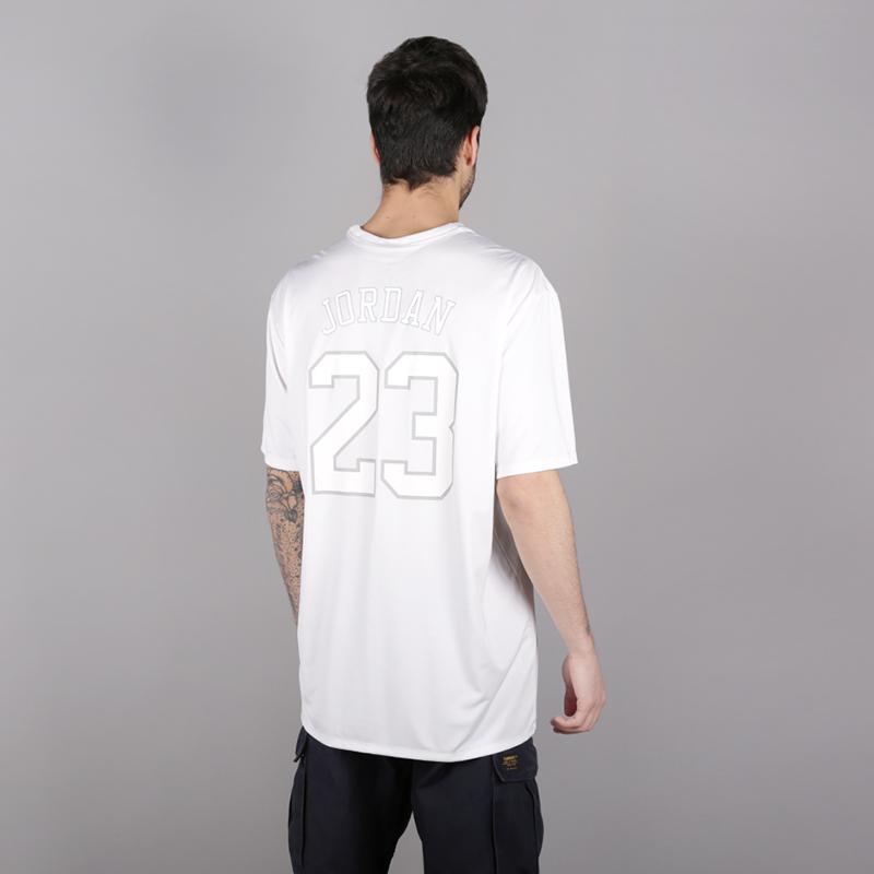 мужскую белую  футболка jordan psg tee AQ7292-100 - цена, описание, фото 4
