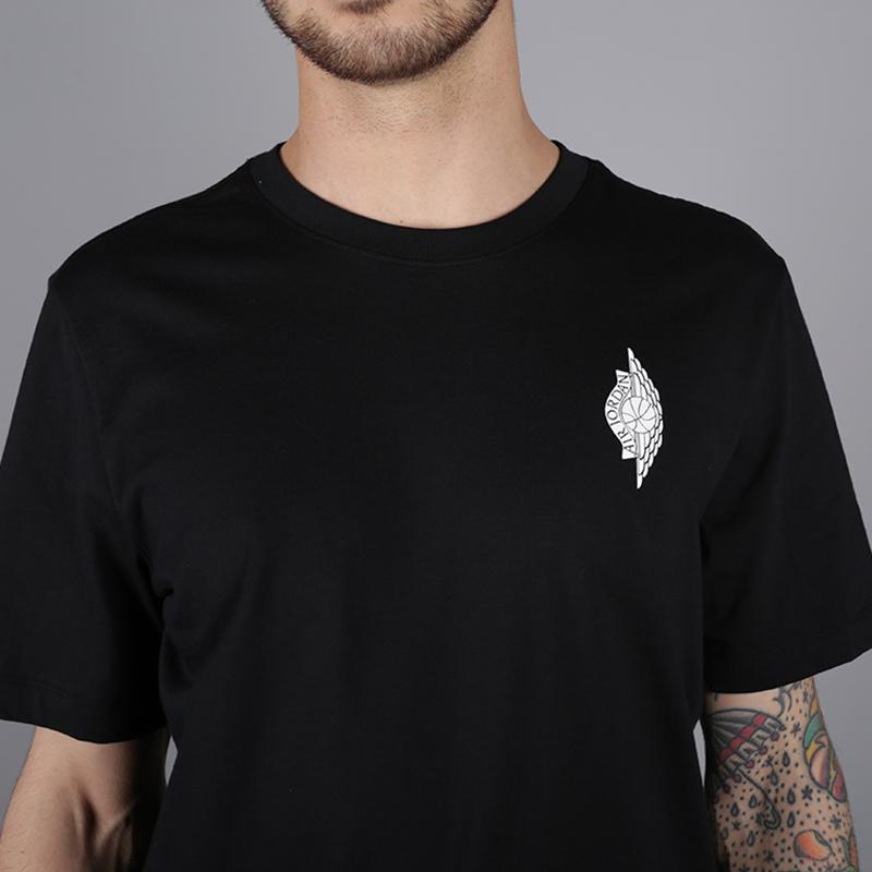 мужскую чёрную  футболка jordan wings photo tee AO0590-010 - цена, описание, фото 2