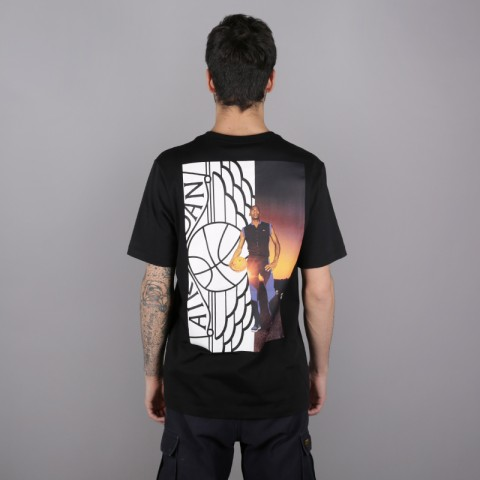 мужскую чёрную  футболка jordan wings photo tee AO0590-010 - цена, описание, фото 3