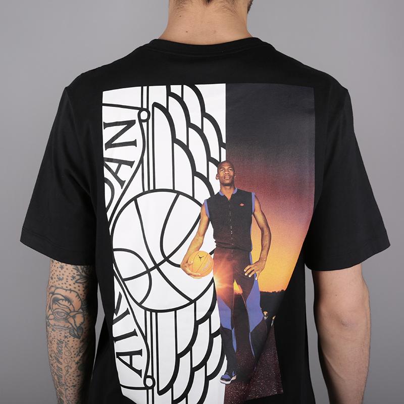 мужскую чёрную  футболка jordan wings photo tee AO0590-010 - цена, описание, фото 4