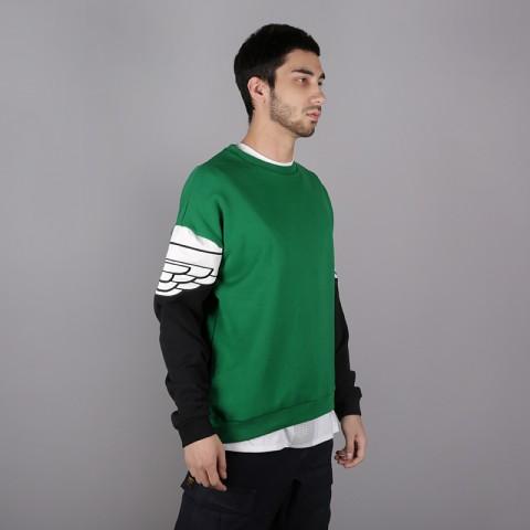 мужскую чёрную, зелёную  толстовка jordan wings classics crew AO0426-302 - цена, описание, фото 2