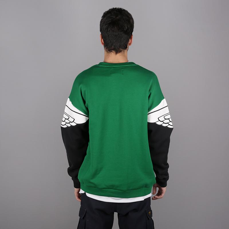 мужскую чёрную, зелёную  толстовка jordan wings classics crew AO0426-302 - цена, описание, фото 4