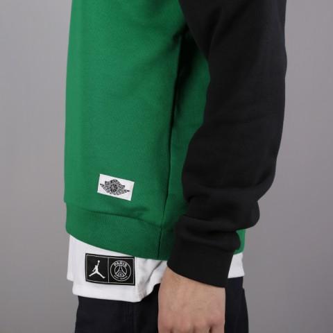 мужскую чёрную, зелёную  толстовка jordan wings classics crew AO0426-302 - цена, описание, фото 5