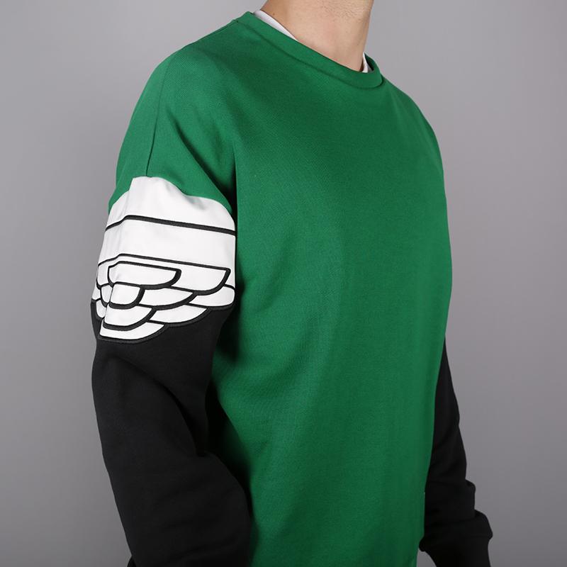 мужскую чёрную, зелёную  толстовка jordan wings classics crew AO0426-302 - цена, описание, фото 3