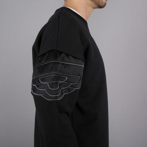 мужскую чёрную  толстовка jordan wings classic crew AO0426-010 - цена, описание, фото 3