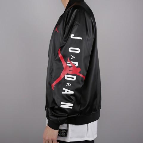 мужскую чёрную  куртку jordan jordan jumpman air stadium AO0444-010 - цена, описание, фото 3